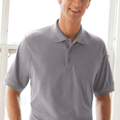 Soft-Blend Double-Tuck Pique Polo