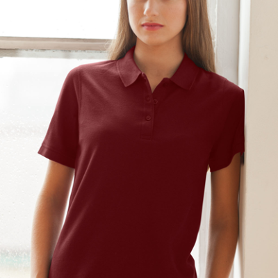 Women's Soft-Blend Double-Tuck Pique Polo