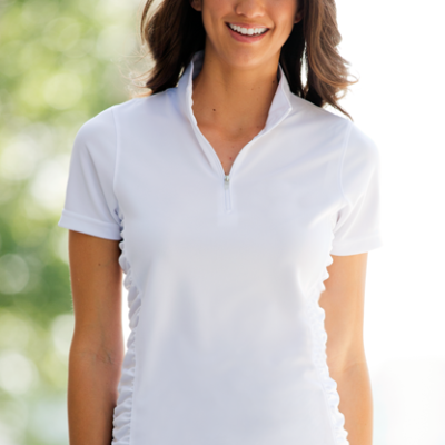 Women's Vansport™ Omega Ruched Polo