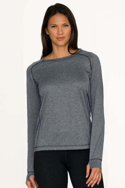 Women's Vansport™ Long Sleeve Melange Tech Tee
