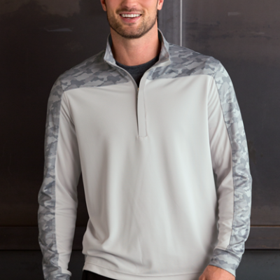 Vansport™ Pro Camo Block 1/4-Zip Pullover