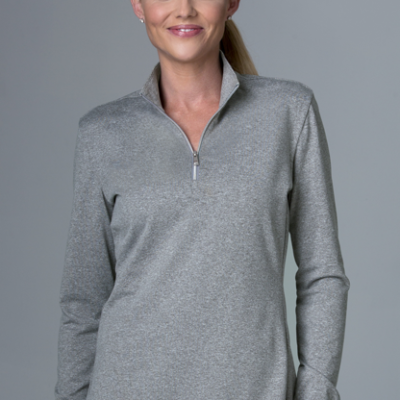 Greg Norman Women's Heathered 1/2-Zip